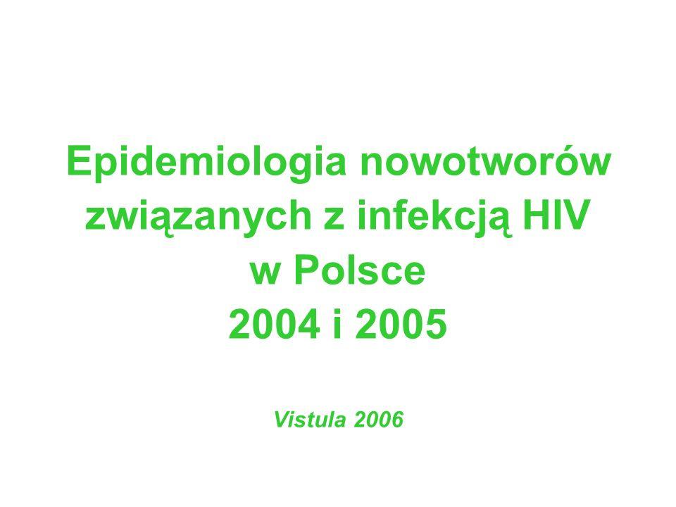 Epidemiologia nowotworów związanych z infekcją HIV w Polsce 2004 i 2005 Vistula 2006