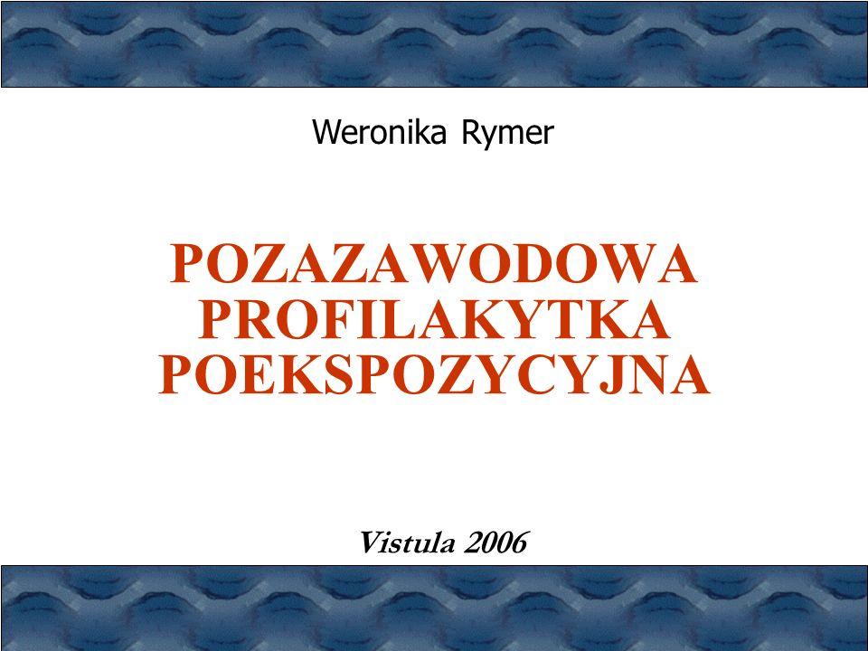 POZAZAWODOWA PROFILAKYTKA POEKSPOZYCYJNA Vistula 2006 Weronika Rymer