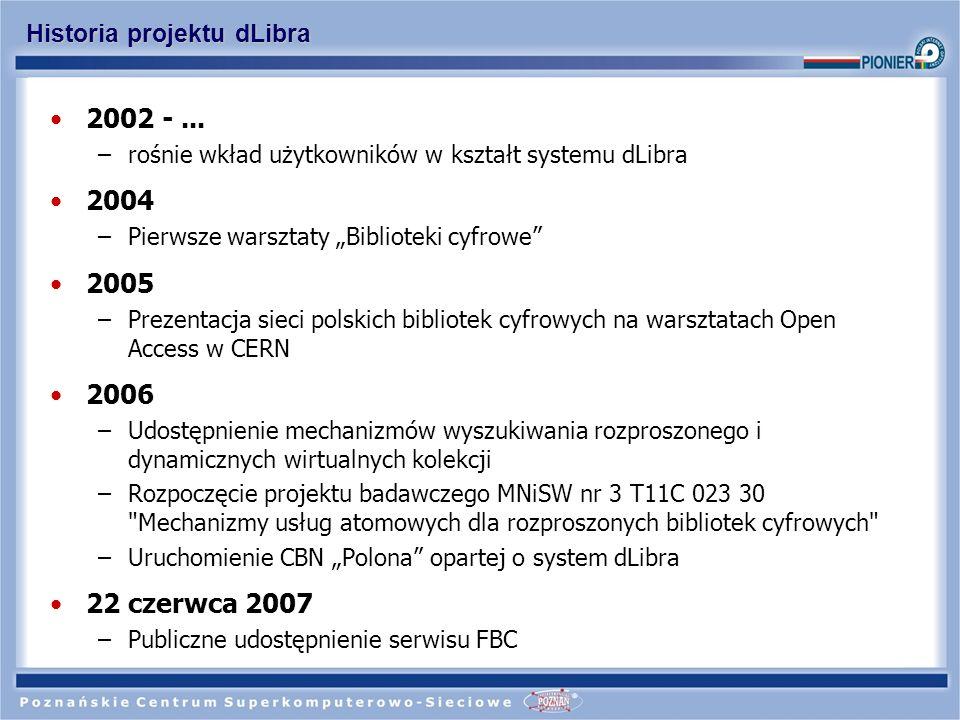 Liczba instalacji bibliotek cyfrowych dLibra
