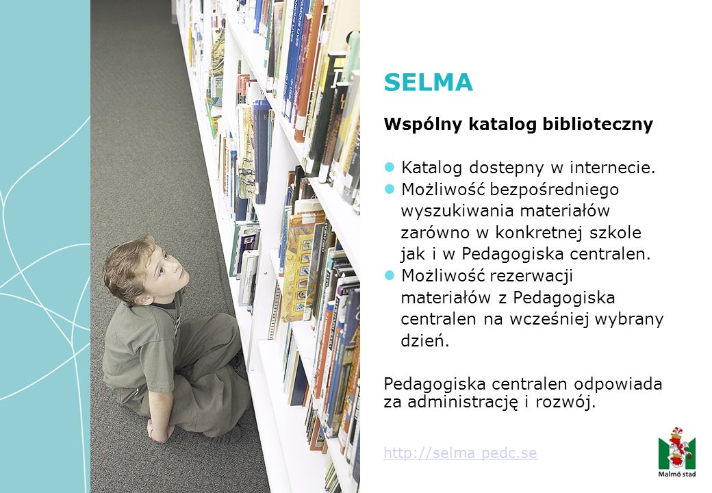 Wspólny katalog biblioteczny Katalog dostepny w internecie. Możliwość bezpośredniego wyszukiwania materiałów zarówno w konkretnej szkole jak i w Pedag
