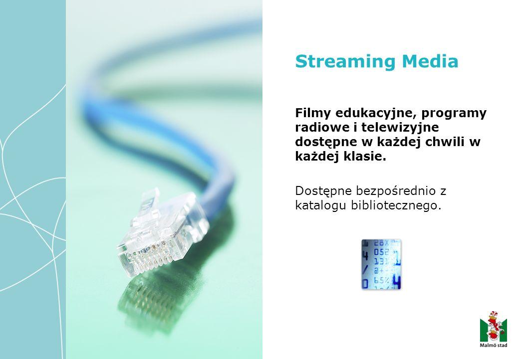 Filmy edukacyjne, programy radiowe i telewizyjne dostępne w każdej chwili w każdej klasie.