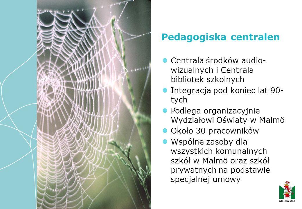 Pedagogiska centralen Centrala środków audio- wizualnych i Centrala bibliotek szkolnych Integracja pod koniec lat 90- tych Podlega organizacyjnie Wydz