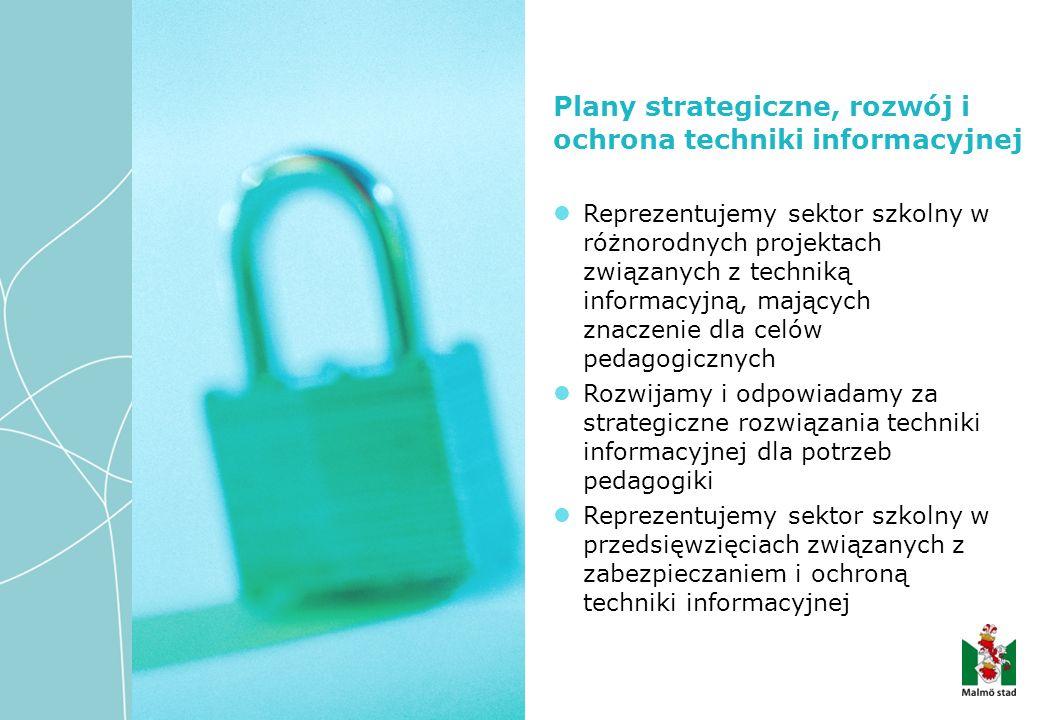 Reprezentujemy sektor szkolny w różnorodnych projektach związanych z techniką informacyjną, mających znaczenie dla celów pedagogicznych Rozwijamy i odpowiadamy za strategiczne rozwiązania techniki informacyjnej dla potrzeb pedagogiki Reprezentujemy sektor szkolny w przedsięwzięciach związanych z zabezpieczaniem i ochroną techniki informacyjnej Plany strategiczne, rozwój i ochrona techniki informacyjnej