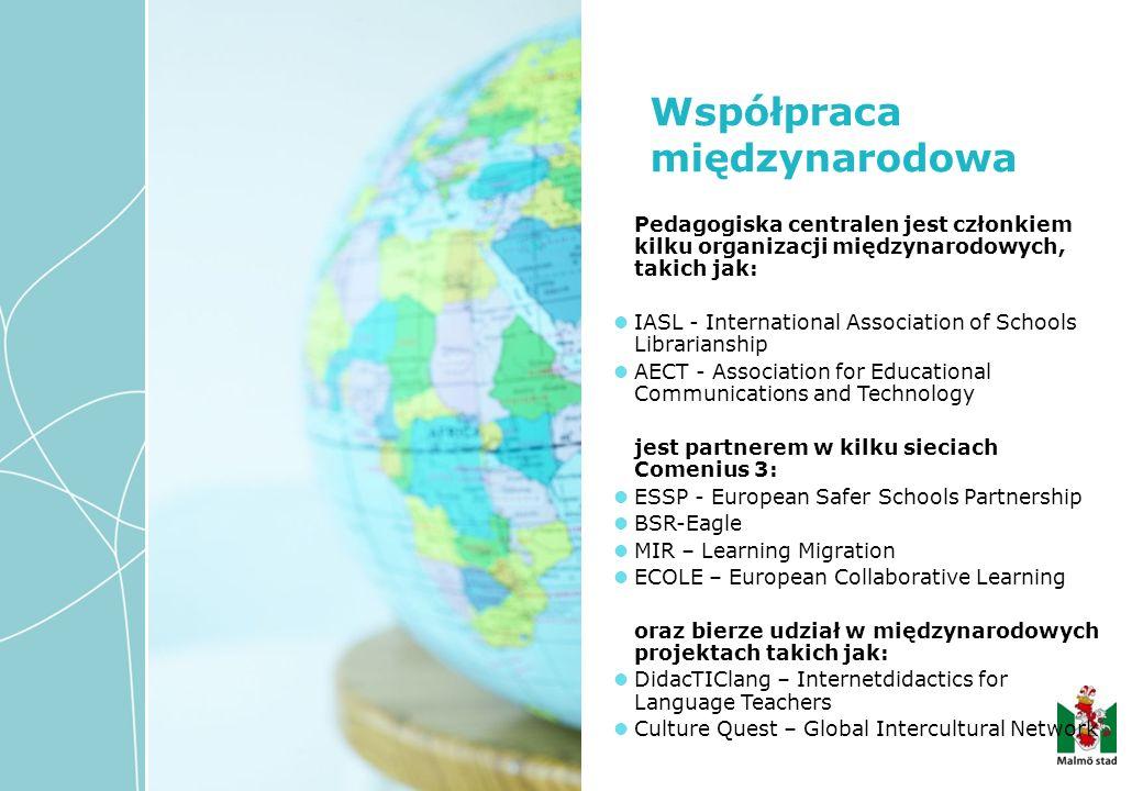 Pedagogiska centralen jest członkiem kilku organizacji międzynarodowych, takich jak: IASL - International Association of Schools Librarianship AECT -