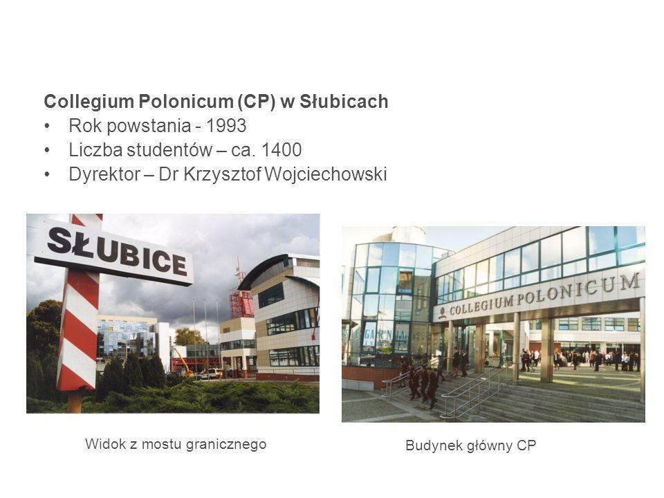 Collegium Polonicum (CP) w Słubicach Rok powstania - 1993 Liczba studentów – ca.