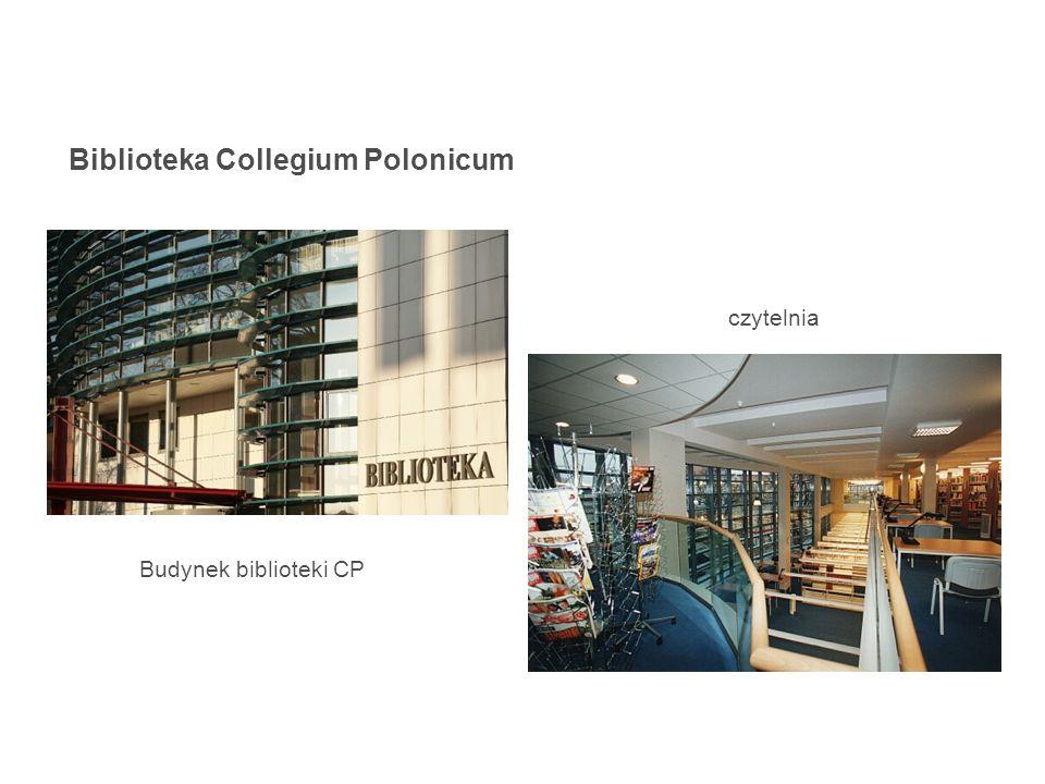 Biblioteka Collegium Polonicum Budynek biblioteki CP czytelnia