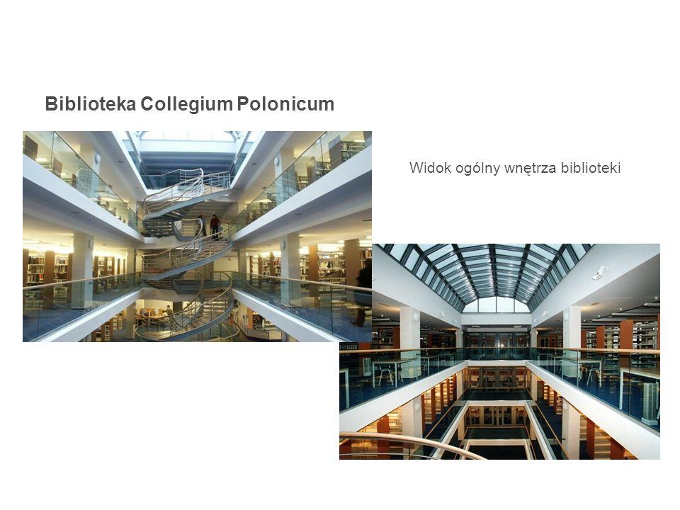 Biblioteka Collegium Polonicum Widok ogólny wnętrza biblioteki