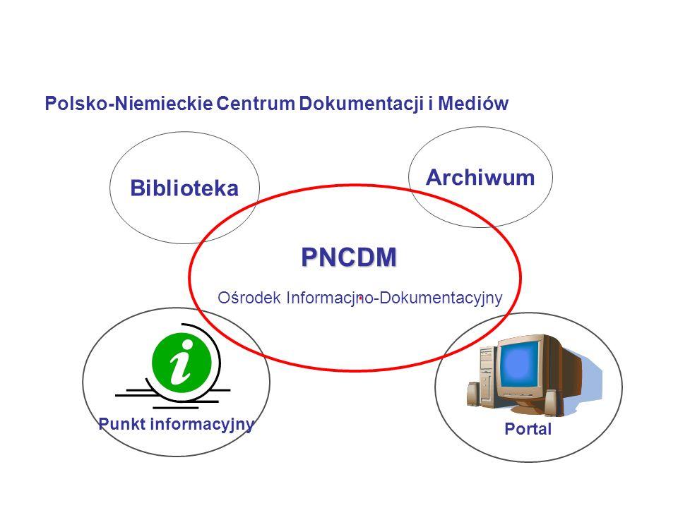 PortalPunkt informacyjny Ośrodek Informacjno-Dokumentacyjny PNCDM Biblioteka Archiwum Polsko-Niemieckie Centrum Dokumentacji i Mediów