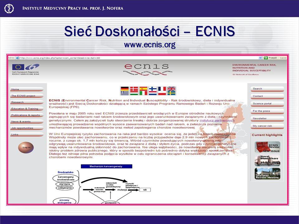 Sieć Doskonałości – ECNIS www.ecnis.org
