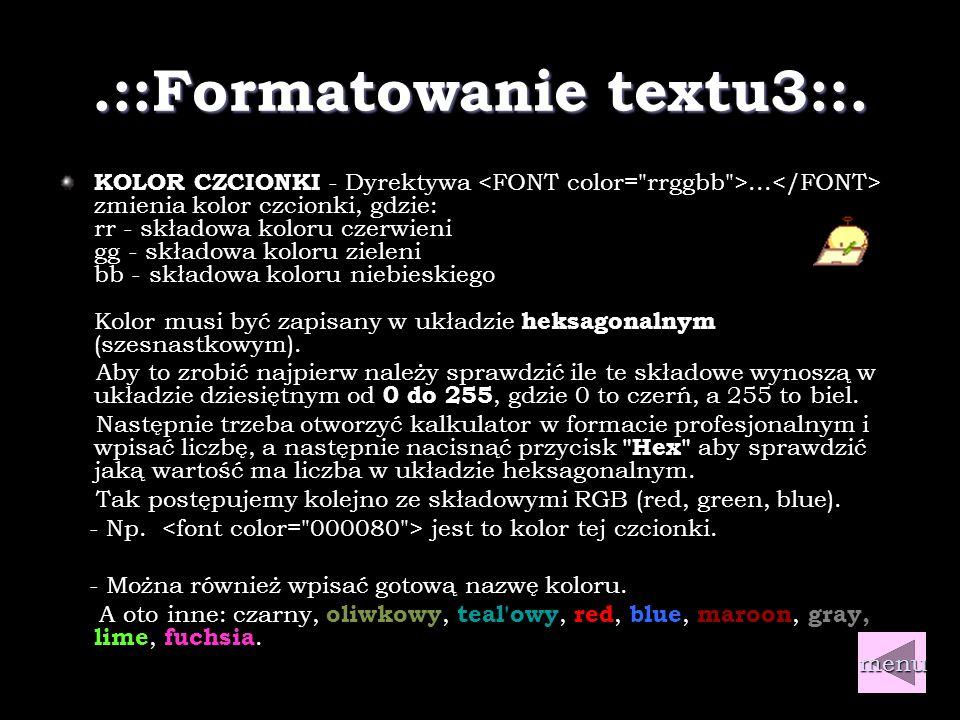 .::Formatowanie textu2::.