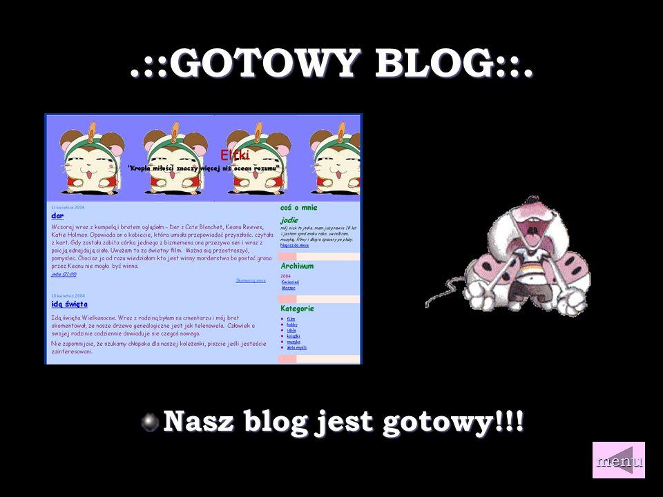 .::Linki::. Gdzie możesz założyć bloga.