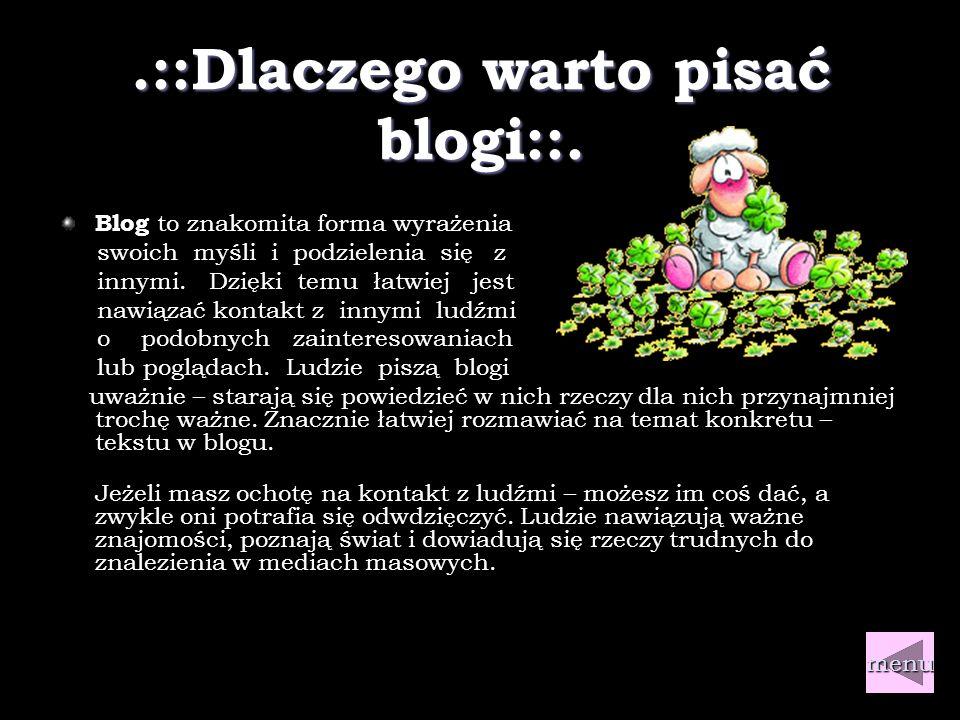 .::Czym jest blog::.