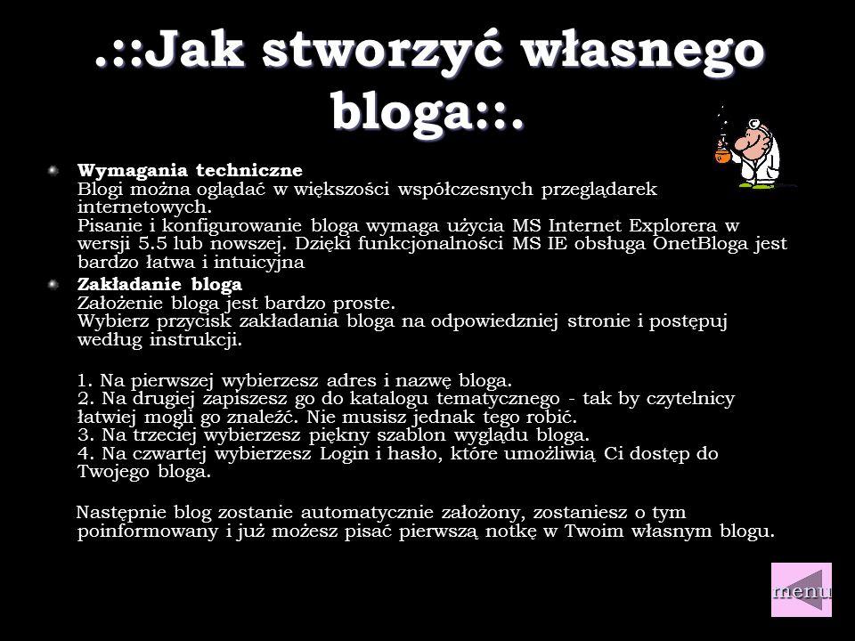 .::Linki::.Gdzie możesz założyć bloga.