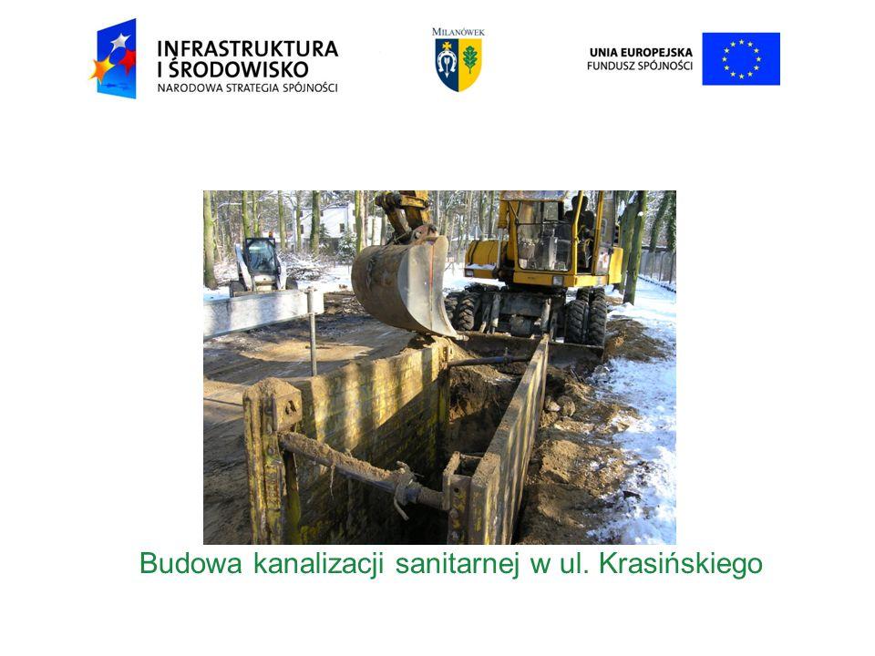Budowa kanalizacji sanitarnej w ul. Krasińskiego