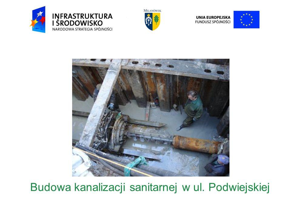 Budowa kanalizacji sanitarnej w ul. Podwiejskiej
