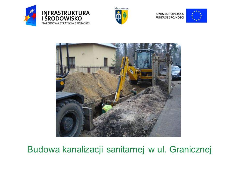 Budowa kanalizacji sanitarnej w ul. Granicznej