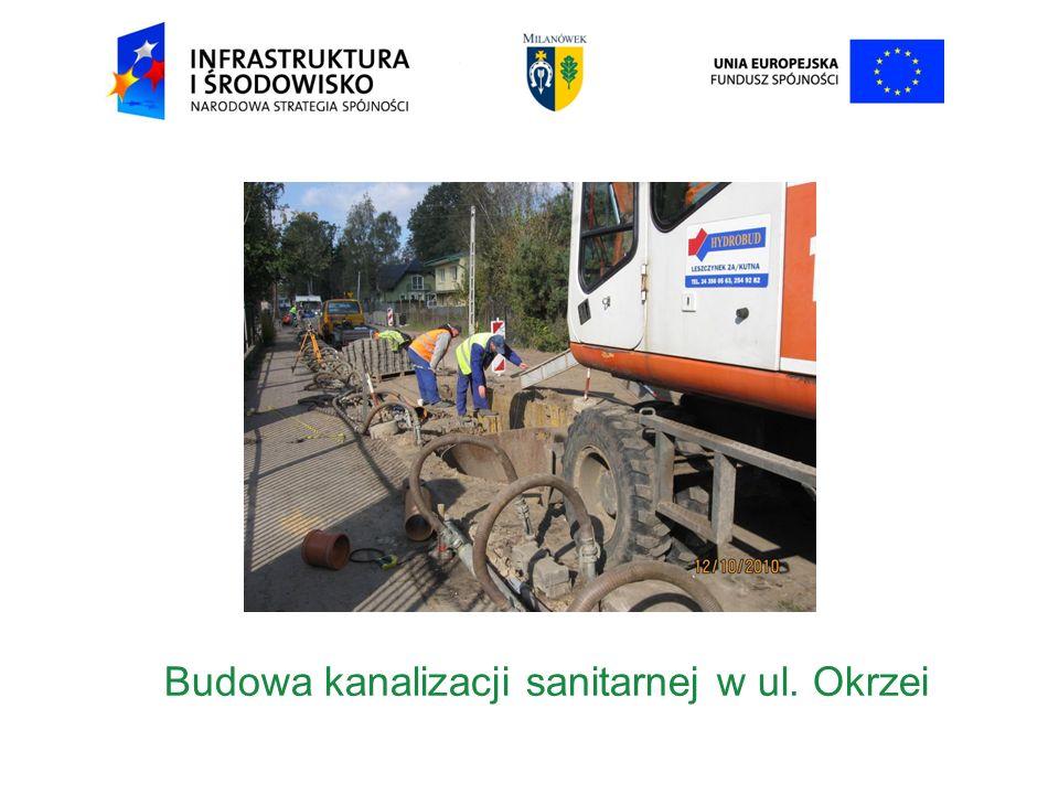 Budowa kanalizacji sanitarnej w ul. Okrzei