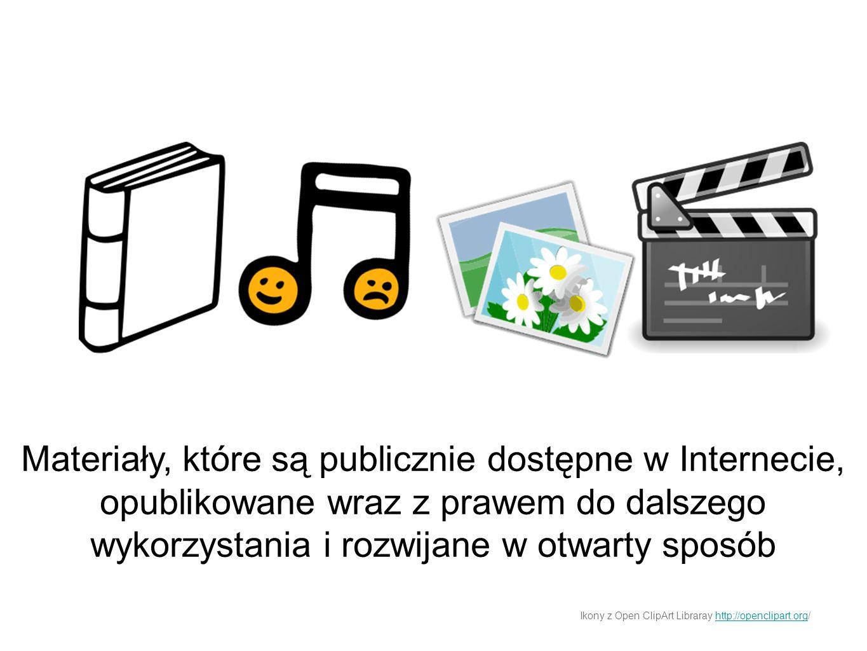 Materiały, które są publicznie dostępne w Internecie, opublikowane wraz z prawem do dalszego wykorzystania i rozwijane w otwarty sposób Ikony z Open C