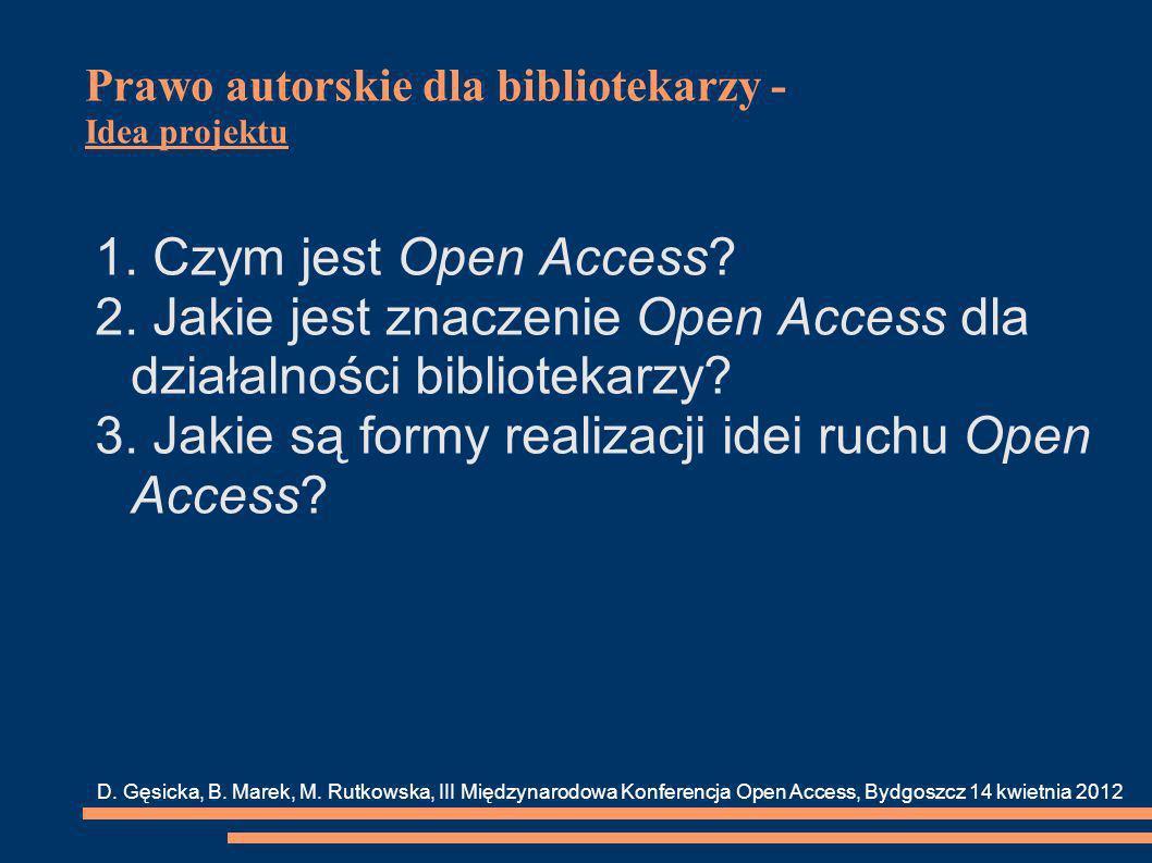 Prawo autorskie dla bibliotekarzy - Idea projektu 4.