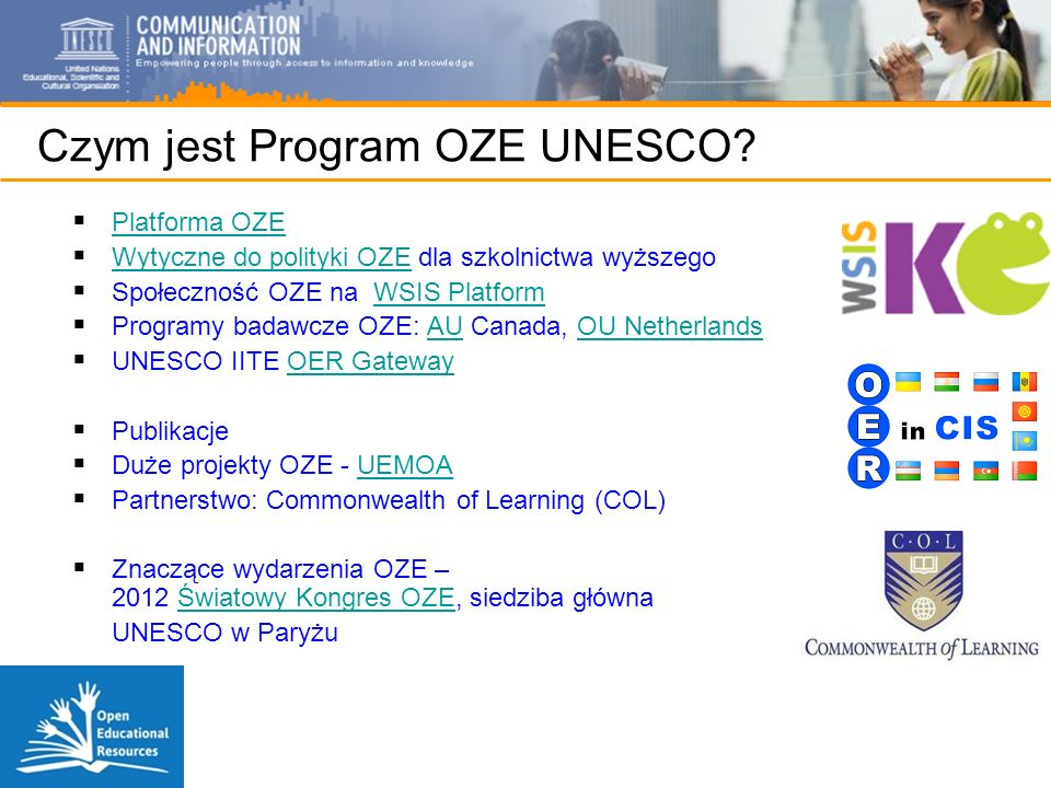 Czym jest Program OZE UNESCO.