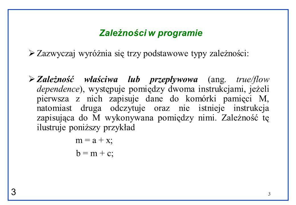 4 4 Zależności w programie Zależność wyjściowa (ang.