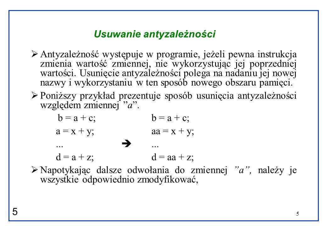 16 Identyfikacja zależności Jak możemy rozwiązać równanie a*j+b = c*k+d .