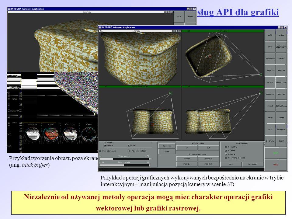 Ogólne zasady korzystania z podstawowych usług API dla grafiki komputerowej 2D: Metody 1 (poza ekranem) używamy w operacjach związanych z przetwarzani