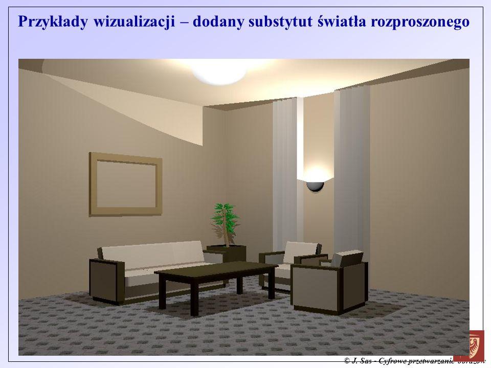 © J. Sas - Cyfrowe przetwarzanie obrazów Przykłady wizualizacji – dodany substytut światła rozproszonego