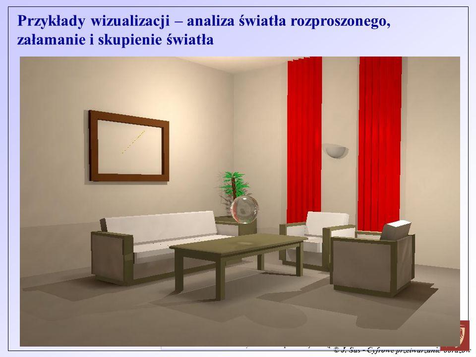 © J. Sas - Cyfrowe przetwarzanie obrazów J. Sas: Zaawansowane Metody Grafiki Komputerowej - Wstęp Przykłady wizualizacji – analiza światła rozproszone
