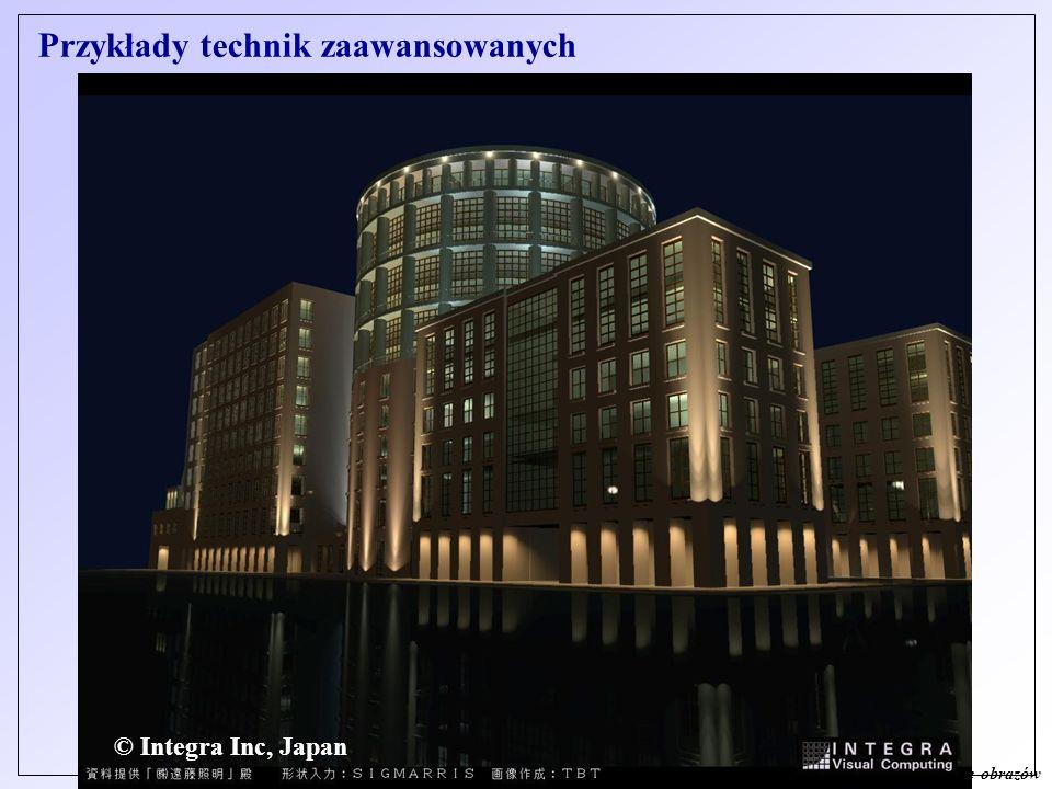 © J. Sas - Cyfrowe przetwarzanie obrazów © Integra Inc, Japan Przykłady technik zaawansowanych