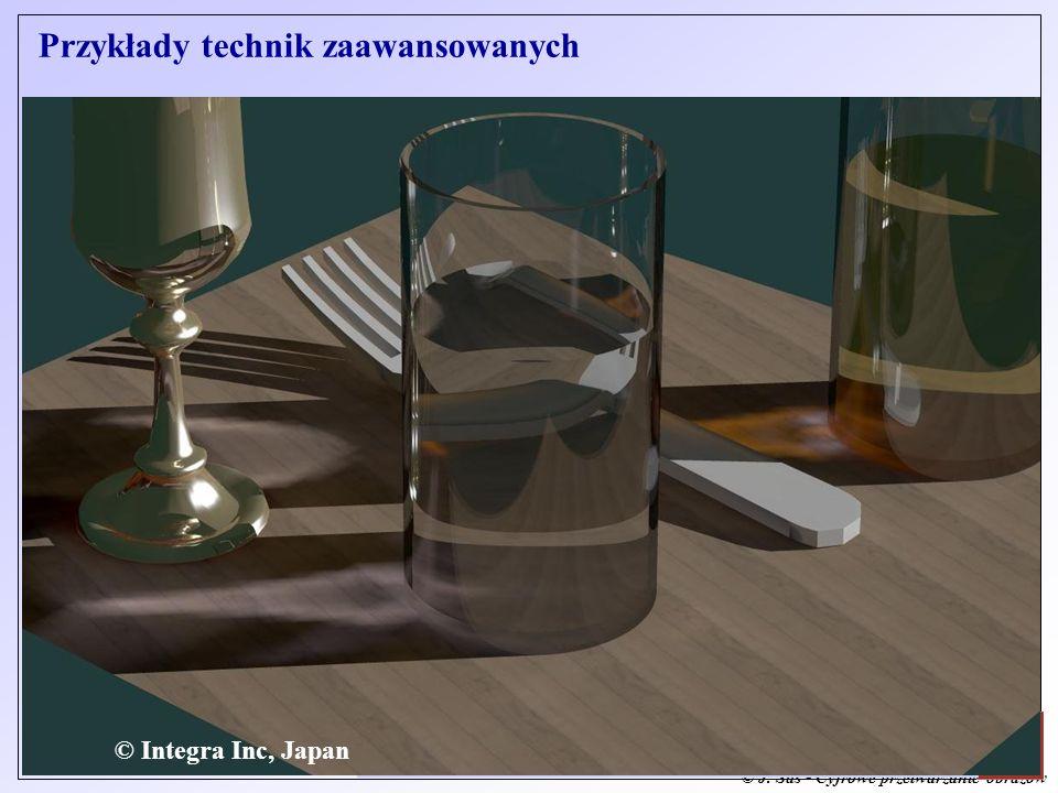 © J. Sas - Cyfrowe przetwarzanie obrazów J. Sas: Zaawansowane Metody Grafiki Komputerowej - Wstęp © Integra Inc, Japan Przykłady technik zaawansowanyc
