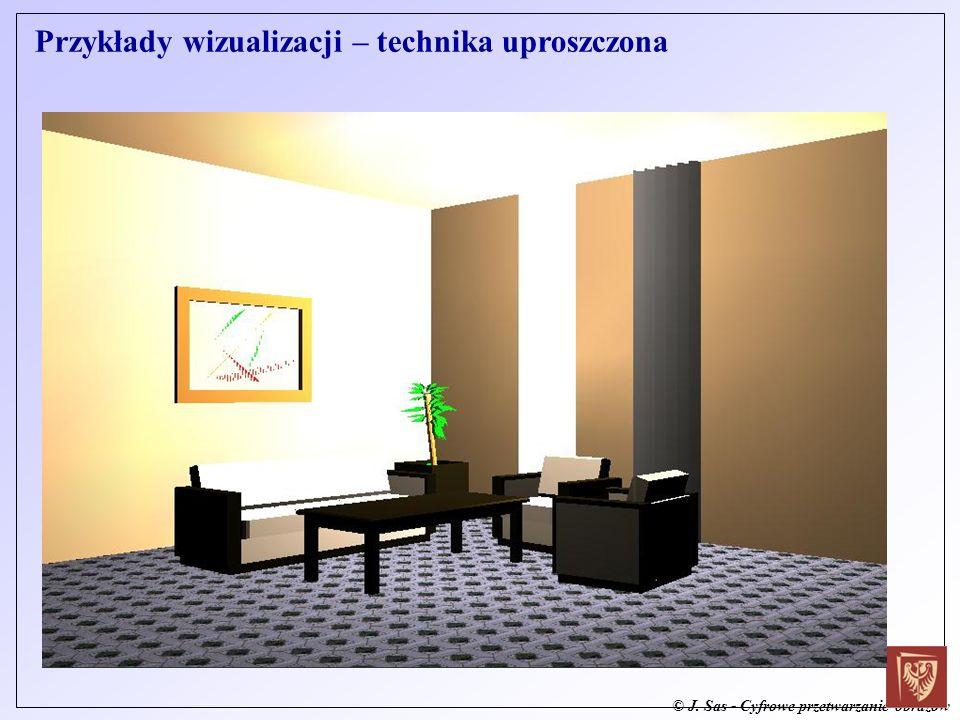 © J. Sas - Cyfrowe przetwarzanie obrazów Przykłady wizualizacji – technika uproszczona