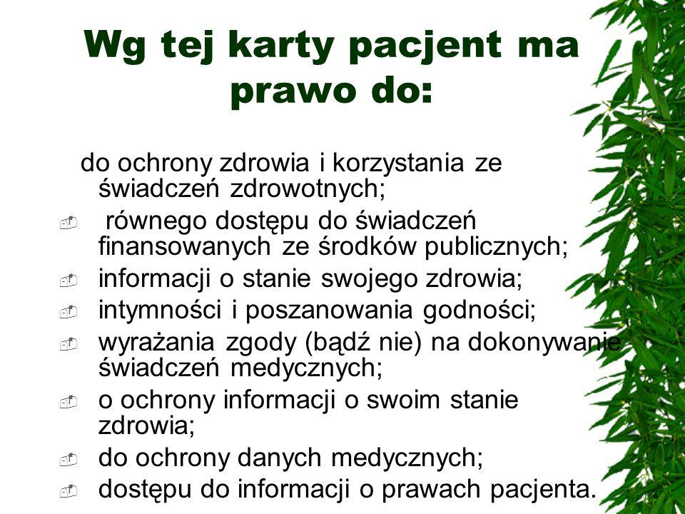 Prawa pacjenta w polskim prawie z dnia 30 sierpnia 1991 r.