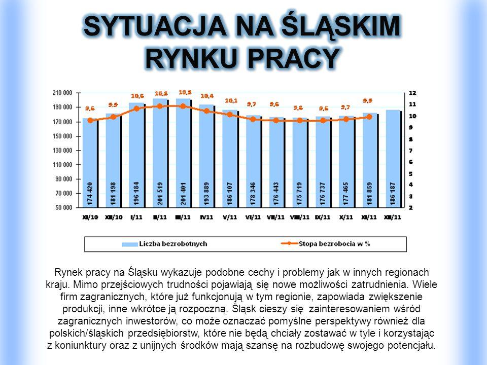 Rynek pracy na Śląsku wykazuje podobne cechy i problemy jak w innych regionach kraju. Mimo przejściowych trudności pojawiają się nowe możliwości zatru