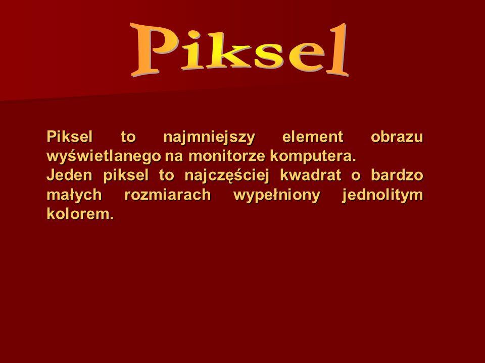 Piksel to najmniejszy element obrazu wyświetlanego na monitorze komputera. Jeden piksel to najczęściej kwadrat o bardzo małych rozmiarach wypełniony j