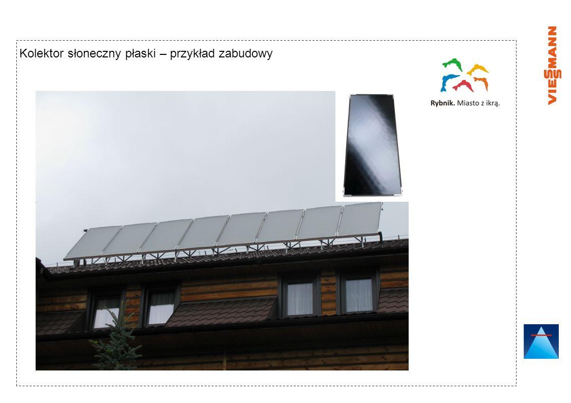 Kolektor słoneczny próżniowy – przykład zabudowy Kolektor próżniowy rurowy Zastosowanie najwyższego standardu przykrycia kolektora – szkło antyrefleksyjne (typ AR) Szkło typu AR zwiększa przepuszczalność promieni słonecznych w stosunku do szkła hartowanego i solarnego