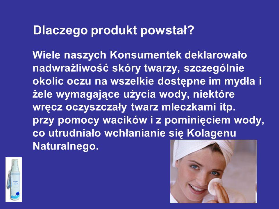 Wiele naszych Konsumentek deklarowało nadwrażliwość skóry twarzy, szczególnie okolic oczu na wszelkie dostępne im mydła i żele wymagające użycia wody,