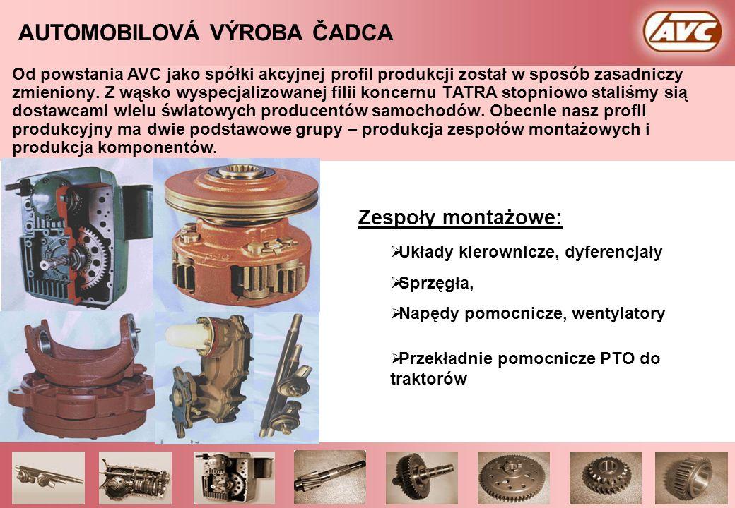 page 2/33 – AVC Presentation - 2000AUTOMOBILOVÁ VÝROBA ČADCA a.s. Tradycja przemysłu maszynowego w Czadcy sięga do roku 1944, od wtedy program produkc
