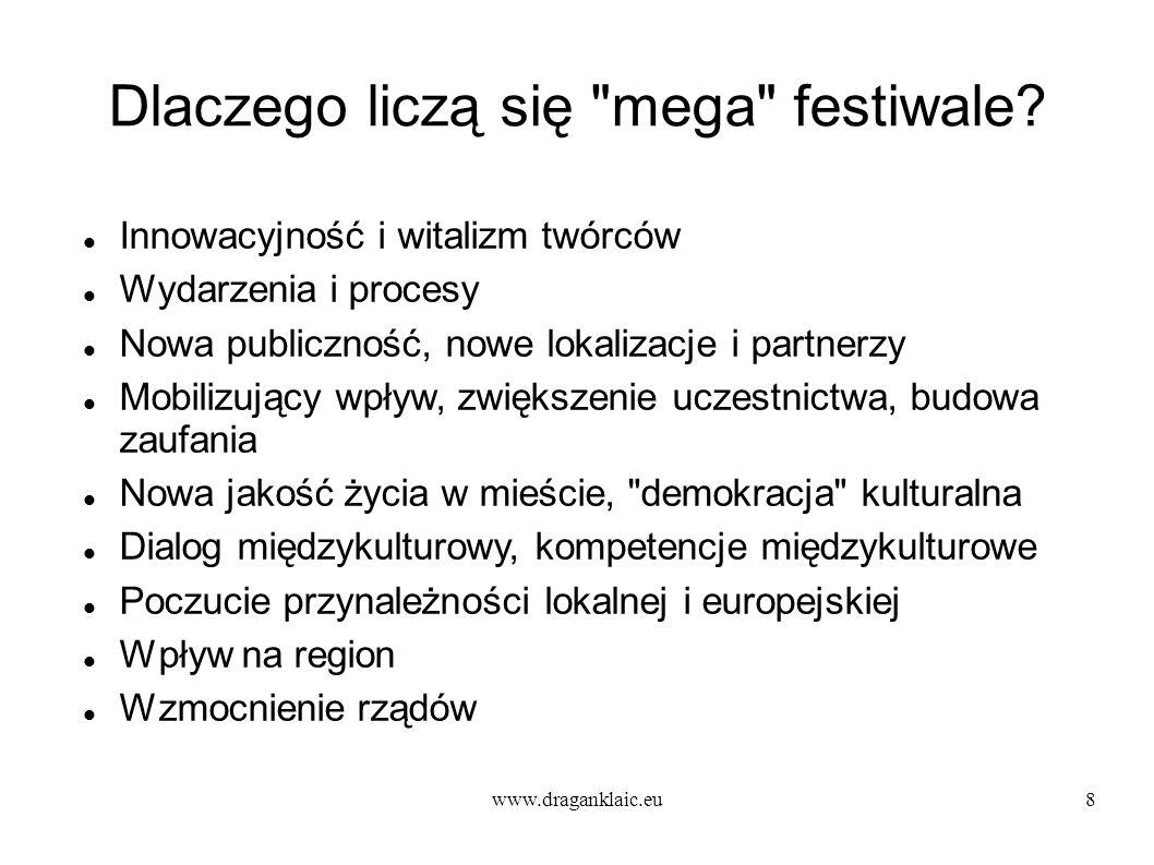 www.draganklaic.eu8 Dlaczego liczą się mega festiwale.