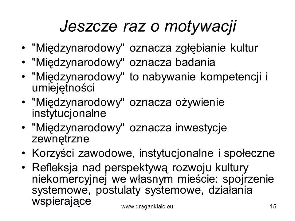 www.draganklaic.eu15 Jeszcze raz o motywacji