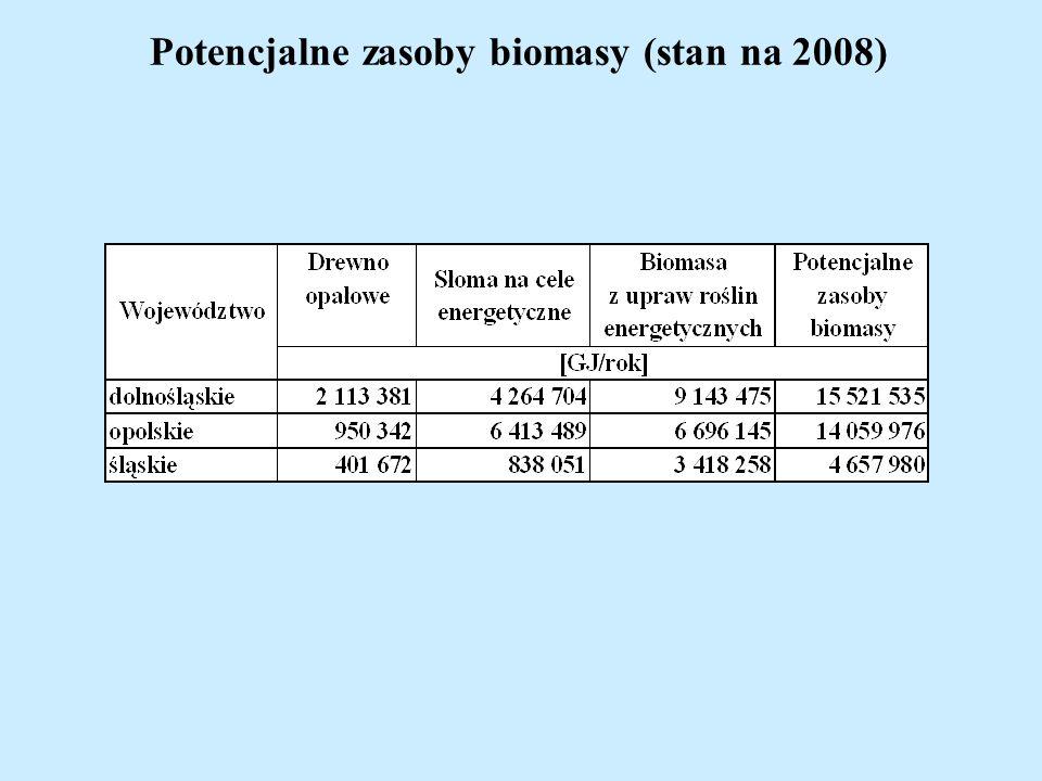 Potencjalne zasoby biomasy (stan na 2008)