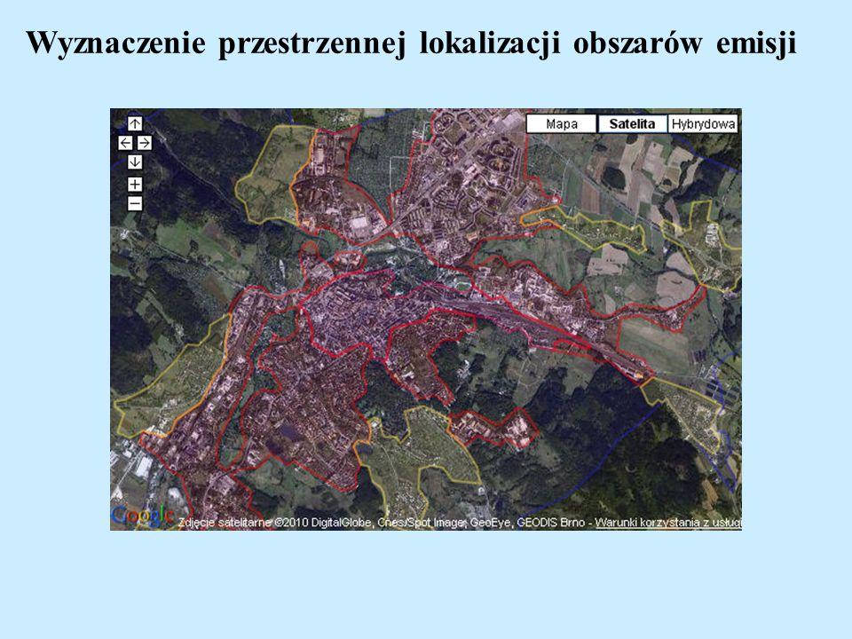 Wyznaczenie przestrzennej lokalizacji obszarów emisji