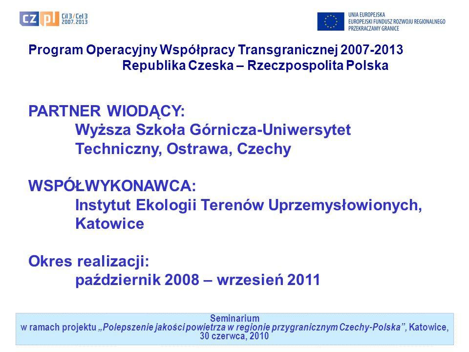 Seminarium w ramach projektuPolepszenie jakości powietrza w regionie przygranicznym Czechy-Polska, Katowice, 30 czerwca, 2010 Instytut Ekologii Terenów Uprzemysłowionych – informacja o Instytucie(1) powstał w 1972 r.