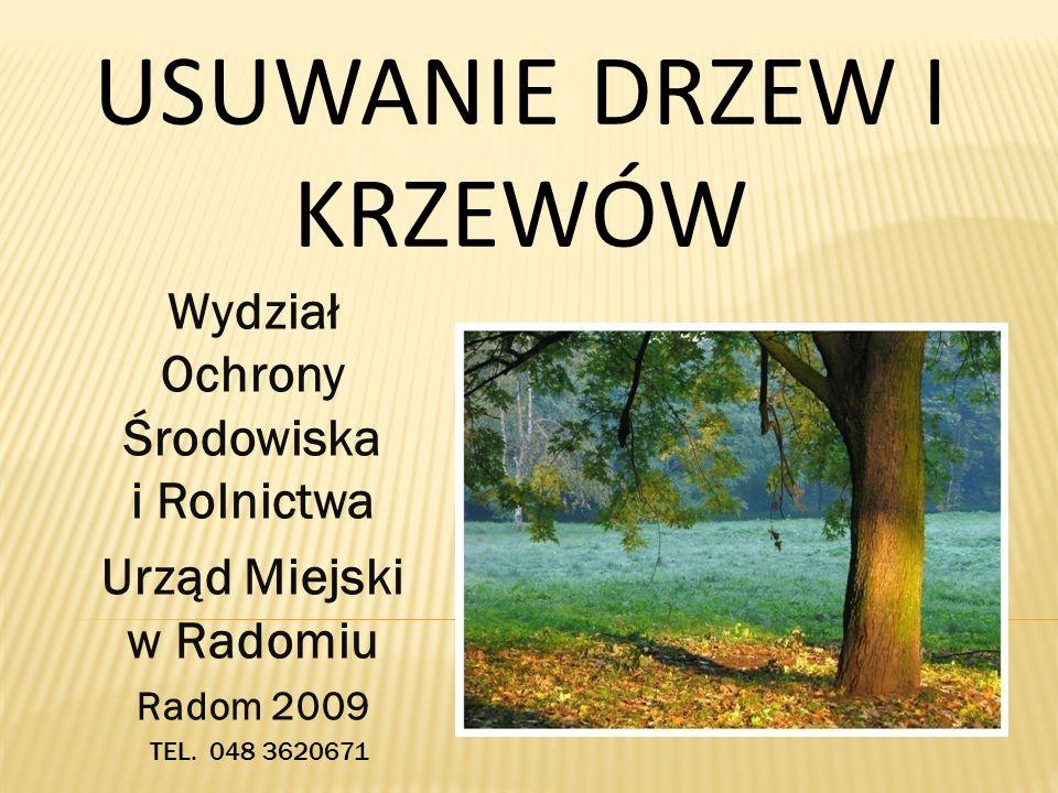 PODSTAWY PRAWNE Ustawa z dnia 16 kwietnia 2004 r.o ochronie przyrody (Dz.