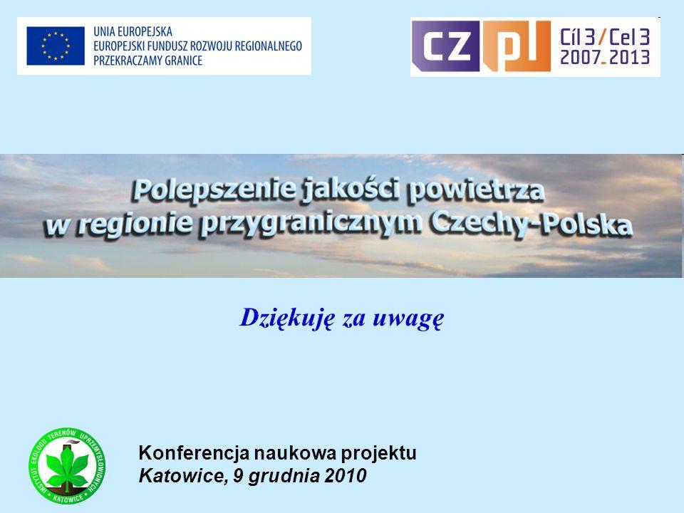Dziękuję za uwagę Konferencja naukowa projektu Katowice, 9 grudnia 2010