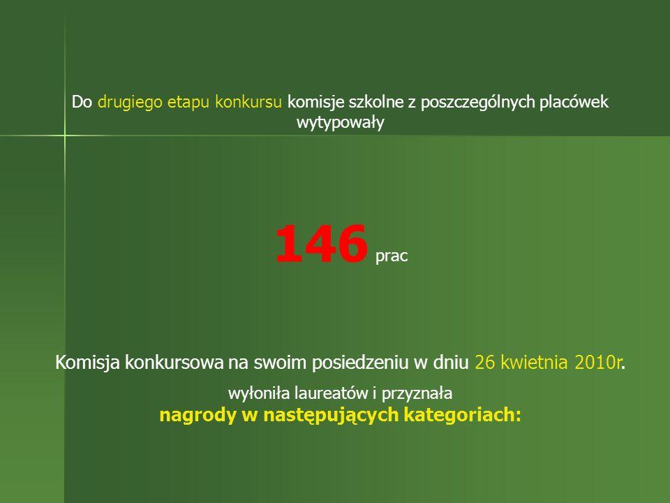 Do drugiego etapu konkursu komisje szkolne z poszczególnych placówek wytypowały 146 prac Komisja konkursowa na swoim posiedzeniu w dniu 26 kwietnia 20