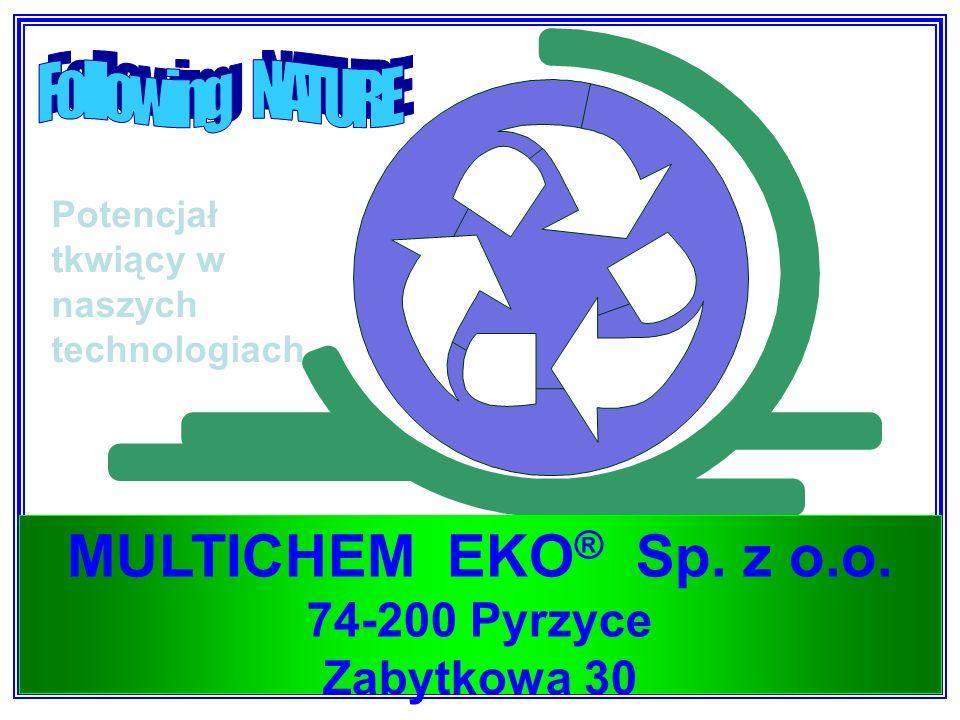 10 MULTICHEM EKO ® Sp. z o.o. 74-200 Pyrzyce Zabytkowa 30 Potencjał tkwiący w naszych technologiach