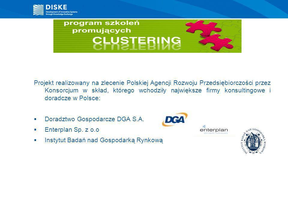 Projekt realizowany na zlecenie Polskiej Agencji Rozwoju Przedsiębiorczości przez Konsorcjum w skład, którego wchodziły największe firmy konsultingowe