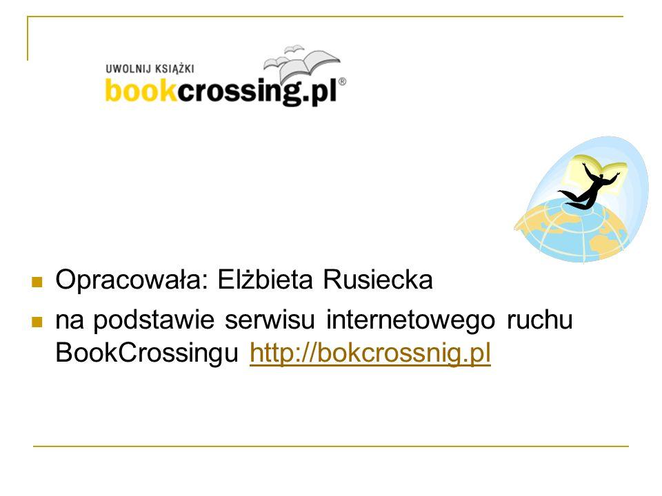 Opracowała: Elżbieta Rusiecka na podstawie serwisu internetowego ruchu BookCrossingu http://bokcrossnig.plhttp://bokcrossnig.pl