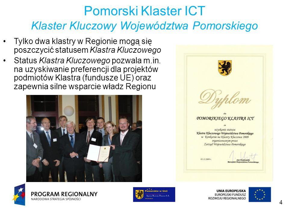 5 Misja, wizja i cele Klastra Wizja Rozpoznawalny w skali światowej, innowacyjny i atrakcyjny pomorski klaster ICT integrujący partnerów biznesowych i naukowych we wspólnych działaniach przy wsparciu władz regionalnych i otoczenia biznesu oraz we współpracy z innymi globalnymi partnerami ICT.